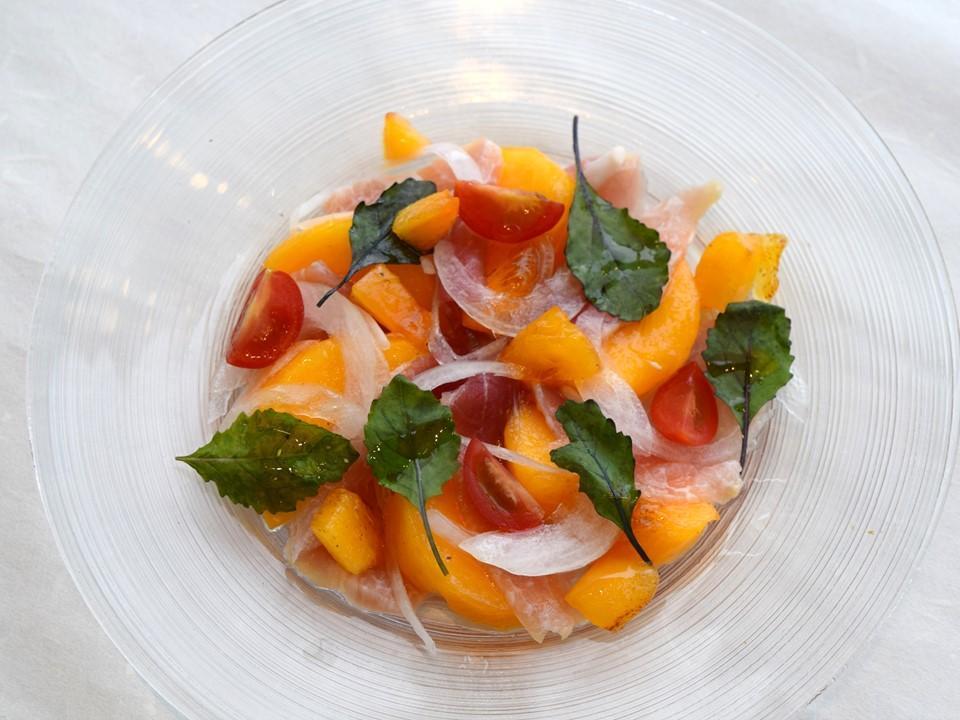 柿と生ハムのカルパッチョ2.JPG